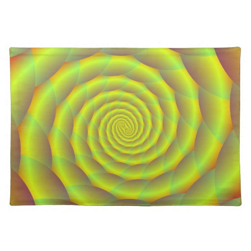Placemats  Coiled Yellow Rope Tunnel