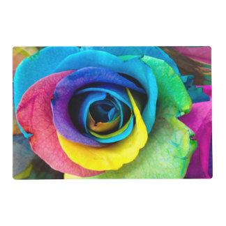 Placemats color de rosa multicolor por SnapDaddy Tapete Individual
