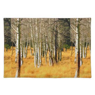 placemats de los árboles del álamo temblón mantel individual