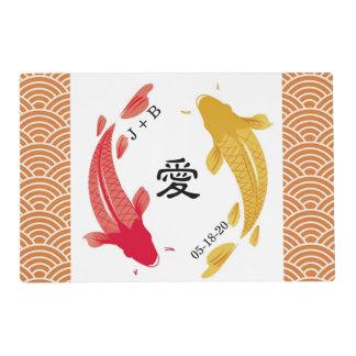 Placemats de papel de encargo para el boda japonés salvamanteles