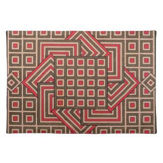 Placemats decorativo - Brown/rojo Mantel Individual