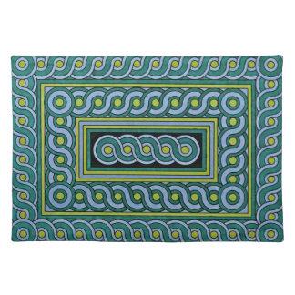 Placemats decorativo - diseño del remolino mantel individual