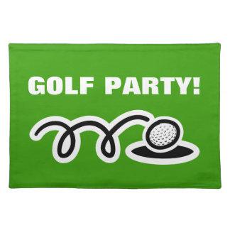 Placemats del golf para el personalizado golfing t mantel