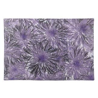 Placemats del modelo de la explosión de la púrpura manteles individuales