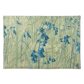 Placemats ingleses de los bluebells mantel