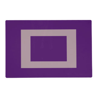 Placemats laminados personalizado profundo púrpura salvamanteles