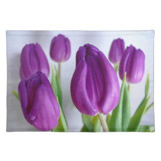 Placemats Lavanda-Púrpuras de los tulipanes Mantel