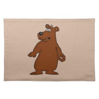 Placemats lindos del diseño del oso marrón manteles