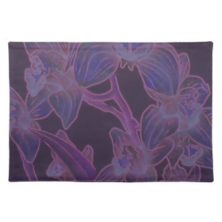 Placemats Purple Orchids