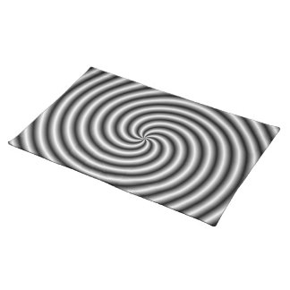 Placemats  The Swirl in Black and White