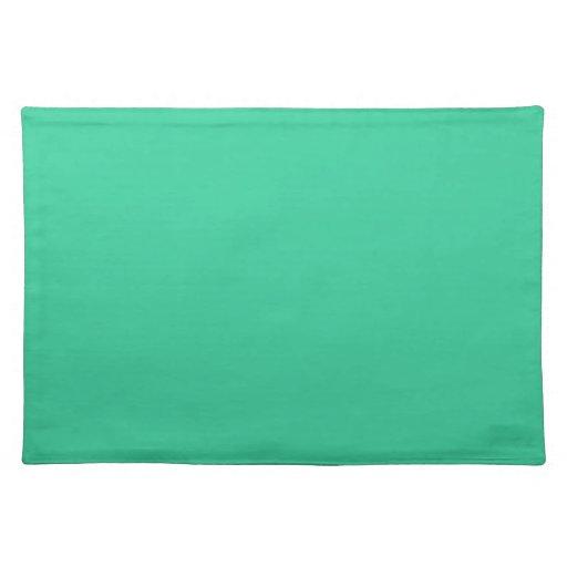 Placemats verde del Caribe Manteles Individuales