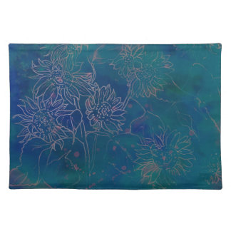 Placemats-Watercolor Abstract in Aqua