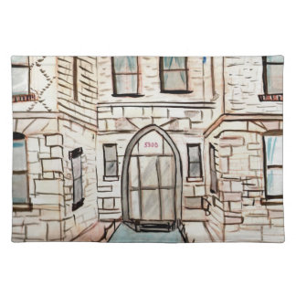 Placemats with City Building Painting
