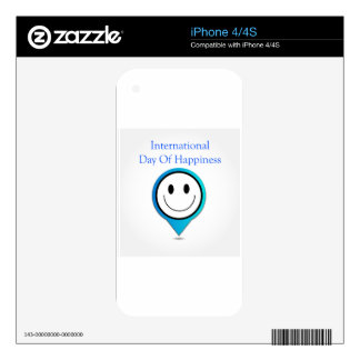 Placement showing a smiley decals for the iPhone 4