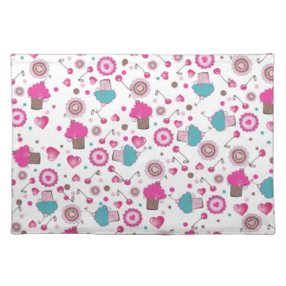 Placement with cupcakes cloth placemat