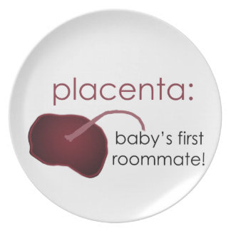 placenta, baby's first roommate plate