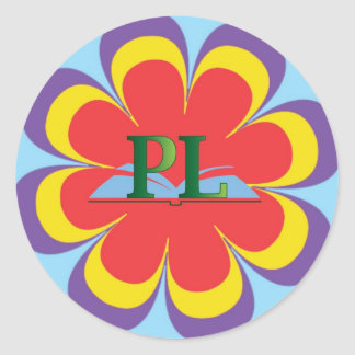 Placentia Library logo and flower sticker