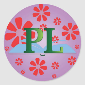 Placentia Library logo and flowers sticker