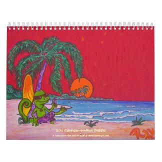 Placer 2011 de las personas que practica surf de calendarios