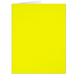 Placer amarillo verdadero de Fluo listo para Tarjeta De Felicitación Grande