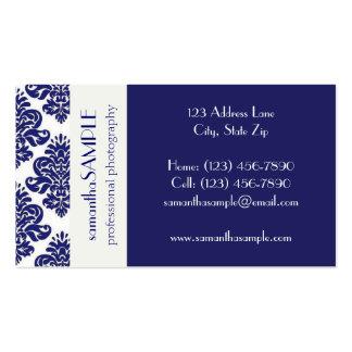 Placer azul y blanco tarjetas de visita
