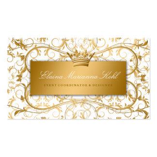 Placer blanco divino de oro 311 tarjetas de visita
