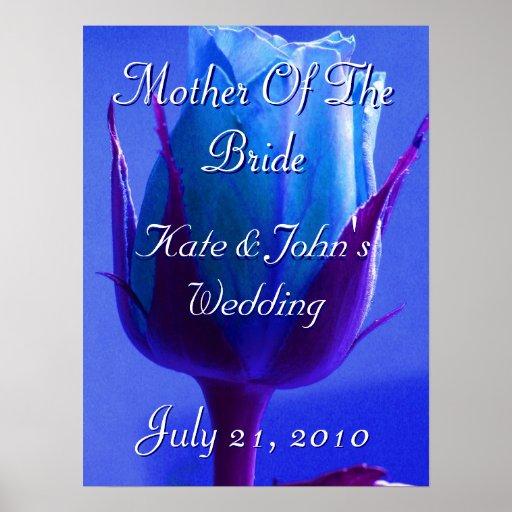 Placer color de rosa azul póster