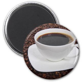 Placer de la carne asada de la taza de café imán redondo 5 cm