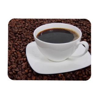 Placer de la carne asada de la taza de café imanes de vinilo