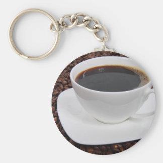 Placer de la carne asada de la taza de café llavero redondo tipo pin