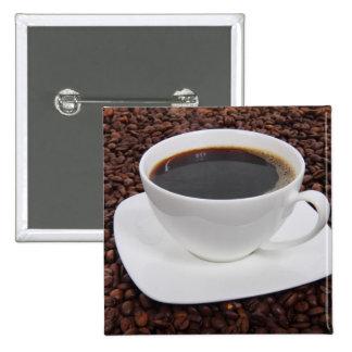 Placer de la carne asada de la taza de café pin cuadrada 5 cm