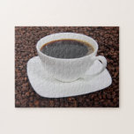 Placer de la carne asada de la taza de café puzzle con fotos