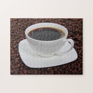 Placer de la carne asada de la taza de café rompecabeza