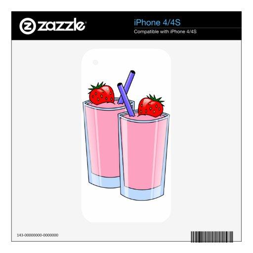 Placer de la fresa skins para iPhone 4