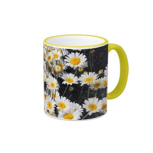Placer de la margarita tazas de café