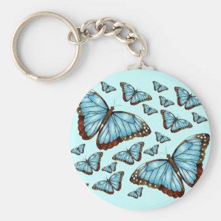 Placer de la mariposa llavero