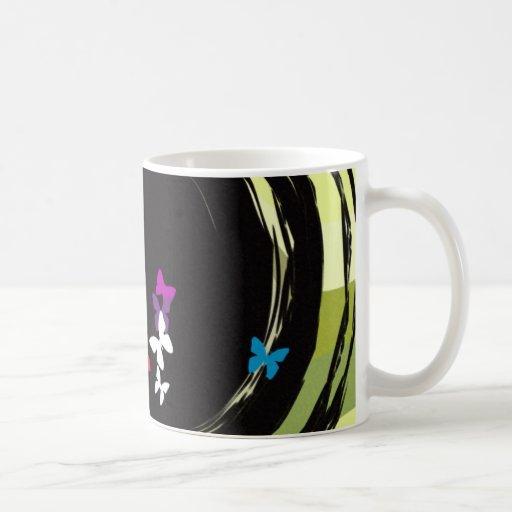 Placer de la mariposa tazas