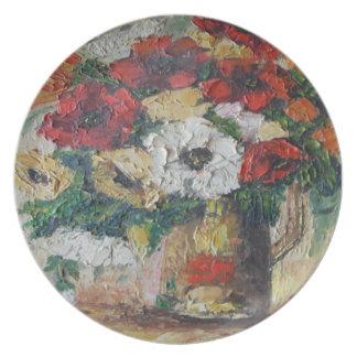 Placer de la mezcla de la flor de la pintura de An Platos De Comidas