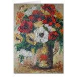 Placer de la mezcla de la flor de la pintura de An Tarjetas