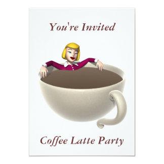 Placer de lujo de los amantes del café de la anuncio