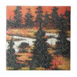 Placer del árbol de la pintura de Ana Hayes de la  Azulejo Ceramica