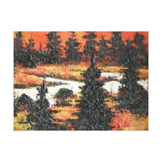 Placer del árbol de la pintura de Ana Hayes de la  Impresión En Lienzo