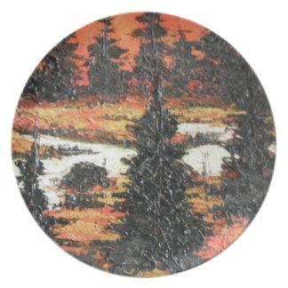 Placer del árbol de la pintura de Ana Hayes de la  Platos