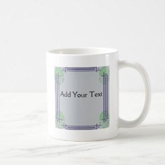 Placer del art déco taza de café
