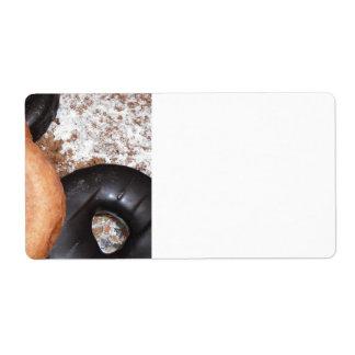 Placer del buñuelo etiqueta de envío