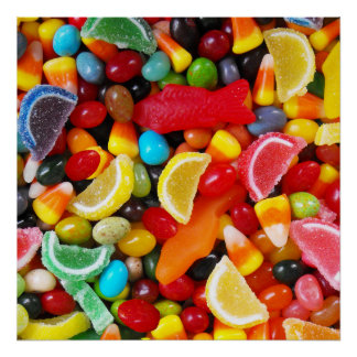 Placer del caramelo impresiones