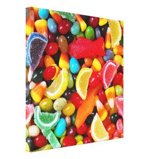 Placer del caramelo impresiones en lienzo estiradas