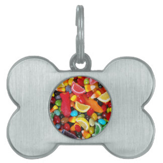 Placer del caramelo placa de nombre de mascota