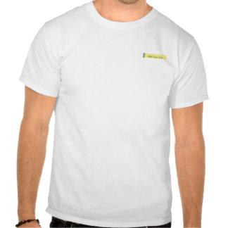 Placer del damasco en amarillo camiseta