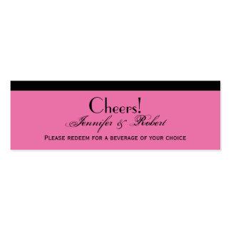 Placer del damasco en boleto rosado floral de la b tarjetas de visita